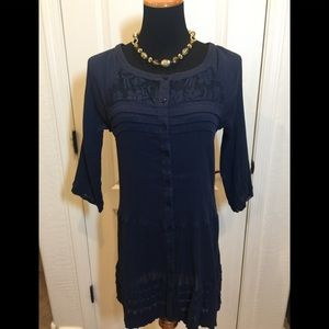 Free People blue sheer dress 🌸Size S/P
